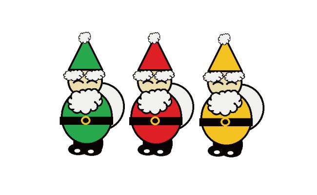 サンタさんを描いてみよう。クリスマスカードなどにいかが♪