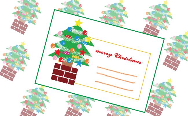 クリスマスの定番、ツリーを描いてみましょう